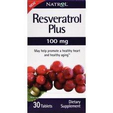 Natrol Resveratrol Plus 100mg 30 tabs, Понижава риска от сърдечни заболявания
