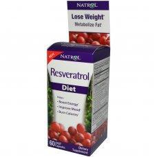 Natrol Resveratrol Diet 60 caps, Ускарява метаболизма и изтарянето на калории