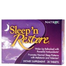 Natrol Sleep N Restore 20 tabs,Осигурява по-лесно заспиване