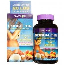 Natrol Tropical Thin - Weight Loss Plan! 60 caps, Стимулира изгарянето на мазнини