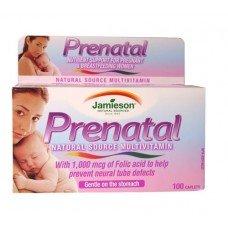 ДЖЕЙМИСЪН ПРЕНАТАЛ витамини за бременни 100 таблетки, JAMIESON PRENATAL