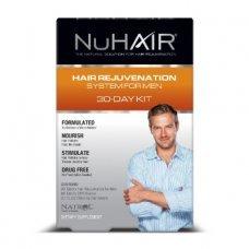 NuHair Men's Kit (Hair Regrowth+DHT Blocker+Thinning Hair Serum) 30 day supply, Специална мъжка формула