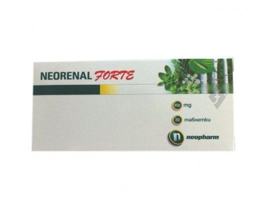 НЕОРЕНАЛ ФОРТЕ усилена формула за здрави бъбреце 20 таблетки, NEORENAL FORTE