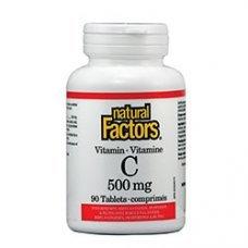 Нейчъръл Факторс  -  Витамин C 500 mg + Шипка х 90 таблетки