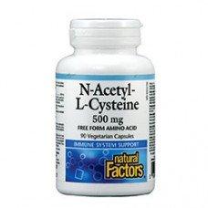 Нейчъръл Факторс  - Н-Ацетил-Л-Цистеин 500 mg х 90 V капсули