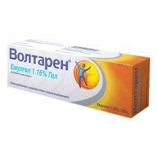 ВОЛТАРЕН ЕМУЛГЕЛ 1.16% 100гр. при мускулни и ставни болки, VOLTAREN