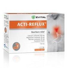 ЕВИТАЛ АКТИ - РЕФЛУКС 24 дъвчащи таблетки, EVITAL ACTI - REFLUX