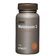 Мелатонин 3мг. 60 таблетки, Melatonin GNC