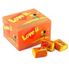 ДЪВКА LOVE IS Ананас и Портокал кутия 100 дъвки
