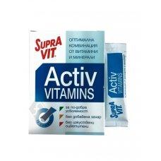СУПРАВИТ АКТИВ витамини и минерали 10 сашета с вкус на череша, SUPRAVIT ACTIV