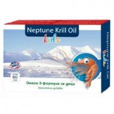 НЕПТУН КРИЛ ОЙЛ КИДС Омега 3 формула за деца 60 капсули, Neptune Krill Oil Kids