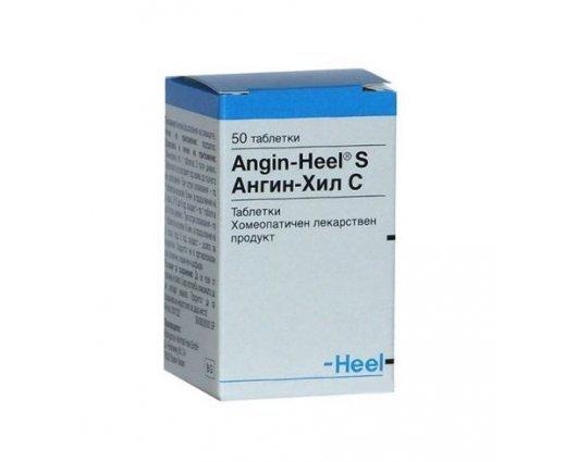 АНГИН ХИЛ хомеопатичен продукт при възпалени сливици 50 таблетки, ANGIN HEEL